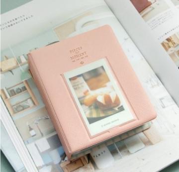 Fetoo 64 Taschen Mini Album Schutzhülle Foto Album Fotohüllen für Mini Fujifilm Instax Miini Film 7S/8/25/50/90, 14 * 11cm (Pink) - 4