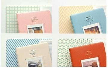 Fetoo 64 Taschen Mini Album Schutzhülle Foto Album Fotohüllen für Mini Fujifilm Instax Miini Film 7S/8/25/50/90, 14 * 11cm (Pink) - 5