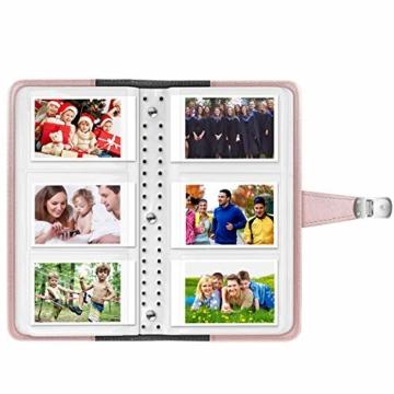 Fintie Brieftasche Mini Fotoalbum für Fujifilm Instax - 108 Seiten Foto-Album für Fujifilm Mini 9 Mini 8+ Mini 90 Mini 26+ Mini 70, HP Sprocket, Polaroid Z2300 PIC-300P 3-Zoll Film, Roségold - 2