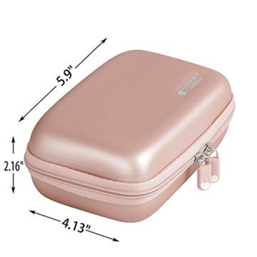 Hart Taschen Hülle für Canon Zoemini Mobiler Mini-Fotodrucker von Hermitshell (roesegold - 7