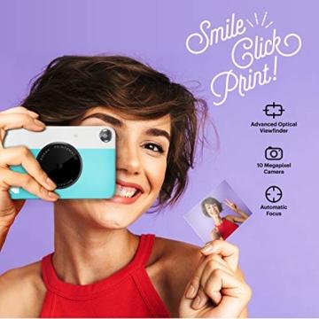 Kodak PRINTOMATIC Digitale Sofortbildkamera, Vollfarbdrucke auf Zink 2x3-Fotopapier mit Sticky-Back-Funktion - Drucken Sie Memories Sofort (Blau) - 2