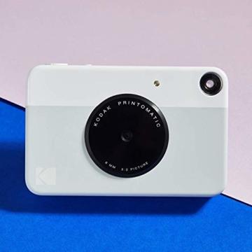 Kodak PRINTOMATIC Digitale Sofortbildkamera, Vollfarbdrucke auf Zink 2x3-Fotopapier mit Sticky-Back-Funktion - Drucken Sie Memories Sofort (Rosa) - 7
