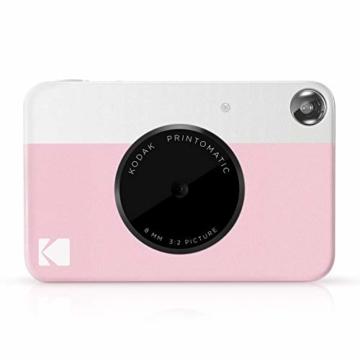 Kodak PRINTOMATIC Digitale Sofortbildkamera, Vollfarbdrucke auf Zink 2x3-Fotopapier mit Sticky-Back-Funktion - Drucken Sie Memories Sofort (Rosa) - 8