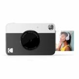 Kodak PRINTOMATIC Digitale Sofortbildkamera, Vollfarbdrucke auf Zink 2x3-Fotopapier mit Sticky-Back-Funktion - Drucken Sie Memories Sofort (Schwarz) - 1