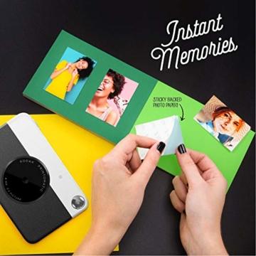 Kodak PRINTOMATIC Digitale Sofortbildkamera, Vollfarbdrucke auf Zink 2x3-Fotopapier mit Sticky-Back-Funktion - Drucken Sie Memories Sofort (Schwarz) - 5