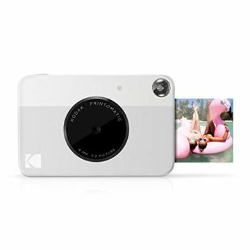 Kodak PRINTOMATIC Digitale Sofortbildkamera, Vollfarbdrucke auf ZINK 2x3-Fotopapier mit Sticky-Back-Funktion - Drucken Sie Memories sofort (Grau) - 1