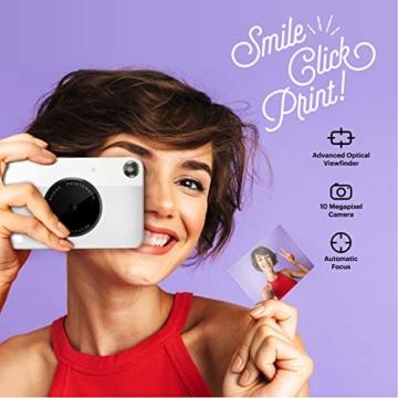 Kodak PRINTOMATIC Digitale Sofortbildkamera, Vollfarbdrucke auf ZINK 2x3-Fotopapier mit Sticky-Back-Funktion - Drucken Sie Memories sofort (Grau) - 2