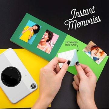 Kodak PRINTOMATIC Digitale Sofortbildkamera, Vollfarbdrucke auf ZINK 2x3-Fotopapier mit Sticky-Back-Funktion - Drucken Sie Memories sofort (Grau) - 5