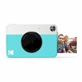Kodak PRINTOMATIC Digitale Sofortbildkamera, Vollfarbdrucke auf Zink 2x3-Fotopapier mit Sticky-Back-Funktion - Drucken Sie Memories Sofort (Blau) - 1