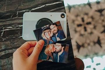 Kodak PRINTOMATIC Digitale Sofortbildkamera, Vollfarbdrucke auf ZINK 2x3-Fotopapier mit Sticky-Back-Funktion - Drucken Sie Memories sofort (Grau) - 8