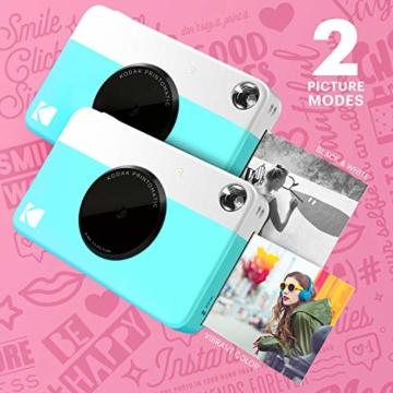 Kodak PRINTOMATIC Digitale Sofortbildkamera, Vollfarbdrucke auf Zink 2x3-Fotopapier mit Sticky-Back-Funktion - Drucken Sie Memories Sofort (Blau) - 4