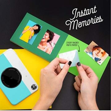 Kodak PRINTOMATIC Digitale Sofortbildkamera, Vollfarbdrucke auf Zink 2x3-Fotopapier mit Sticky-Back-Funktion - Drucken Sie Memories Sofort (Blau) - 5