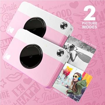 Kodak PRINTOMATIC Digitale Sofortbildkamera, Vollfarbdrucke auf Zink 2x3-Fotopapier mit Sticky-Back-Funktion - Drucken Sie Memories Sofort (Rosa) - 3