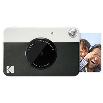 Kodak Printomatic Sofortbildkamera (Schwarz) Basis-Paket + Zinkpapier (20 Blätter) + Luxus-Etui + Bequemer Halsriemen - 2