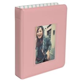 Polaroid 64-Taschen Fotoalbum mit Fenster-Deckblatt für 5 x 7,5 cm Fotopapier (Snap, Zip, Z2300) - Pink - 1