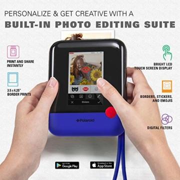 Polaroid POP 2.0 20MP Digital Sofortbildkamera mit 3,97 Touchscreen-Display, Zink Zero Ink-Technologie druckt 3,5 x 4,25 Fotos, Blau - 2
