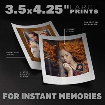 Polaroid POP 2.0 20MP Digital Sofortbildkamera mit 3,97 Touchscreen-Display, Zink Zero Ink-Technologie druckt 3,5 x 4,25 Fotos, Blau - 4