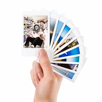 Fujifilm Instax Mini Instant Film, 5x 10 Blatt (50 Blatt), Weiß - 4