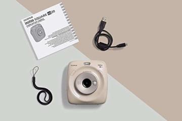 Fujifilm instax SQUARE SQ 20 Hybride Sofortbildkamera, beige - 7