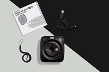 Fujifilm instax SQUARE SQ 20 Hybride Sofortbildkamera, schwarz - 7