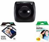 Fujifilm instax square SQ 20, Sofortbildkamera mit Filmset special, schwarz - 1