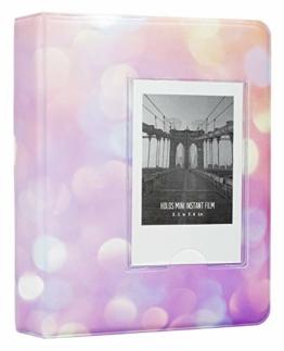 Yosuny Mini Album Schutzhülle 64 Taschen für Fujifilm Instax Mini Filme, für Mini 8+ Mini 9 Mini 11 70 90 25 50s 7s Liplay,Kodak/HP Sprocke/Snap (Sternenhimmel 4) - 1